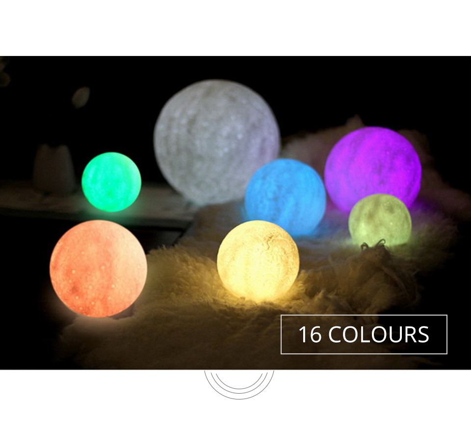 Foxanon 3D Print Moon Light Earth Lamps Rechargeable Color Change Touch Sensor Switch Remote Used as Home Table Lamp Decoration (6)