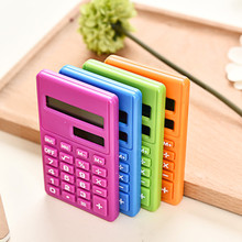 Mini Calculator Solar Energy Power Supply Calculator Lovely Portable Office Stationery Supplies for Student