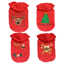 Pet Clothes Puppy Cat Dog Christmas Coat Santa Claus Cotton Sweater 5 Colors