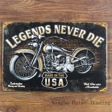 HZ044 Legends Never Die Vintage metal painting retro metal sign 20cm*30cm art posters wall stickers home cafe bar pub wall decor
