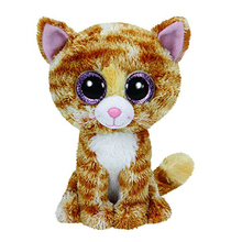 "Pyoopeo Ty Beanie Boos 6"" Tabitha the Cat Boo Beanie Baby Plush Stuffed Doll Toy Collectible Soft Toys Big Eyes Plush Toys"
