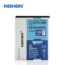 Original NOHON Battery For Samsung Galaxy Ace 5830 S6802 i579 i619 S6102 S6108 S5830 Fit S5670 Gio S5660 I569 High Quality