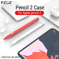 PZOZ для Apple Pencil 2 Чехол iPad Pro 2018 пенал для планшета сенсорный Стилус ручка защитная сумка-чехол Портативный Мягкий силиконовый чехол