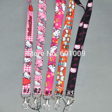 Free Shipping 20/Lot Hello Kitty PHONE LANYARD KEYS ID NECK STRAPS Wholesale
