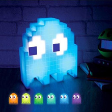 HAIXIANG Creative Cartoon USB Pac-man Game Theme Color Night Light LED Ghost Lamp Bedroom Children's room Decoration Lighting(China)