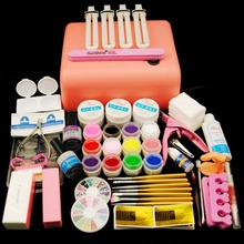 36W Lamp For Nails 12 Color UV Gel Nail Brushes Nail Art Tools Base Gel Top Coat Gel Polish Kit Manicure Sets & Kits
