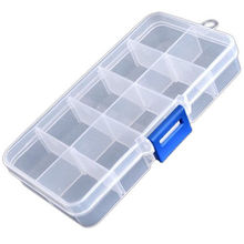 1PCS Translucent 10 Cells Little Item Pill Nail Art Storage Case Glitter Gems Decoration Box High Quality Storage Box
