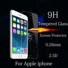 ON sale 9H HD Super Clear Front Tempered Glass For iphone 6 6S 7 plus 4 5 S Screen Protector Protective Glass Film 2.5D Cruved