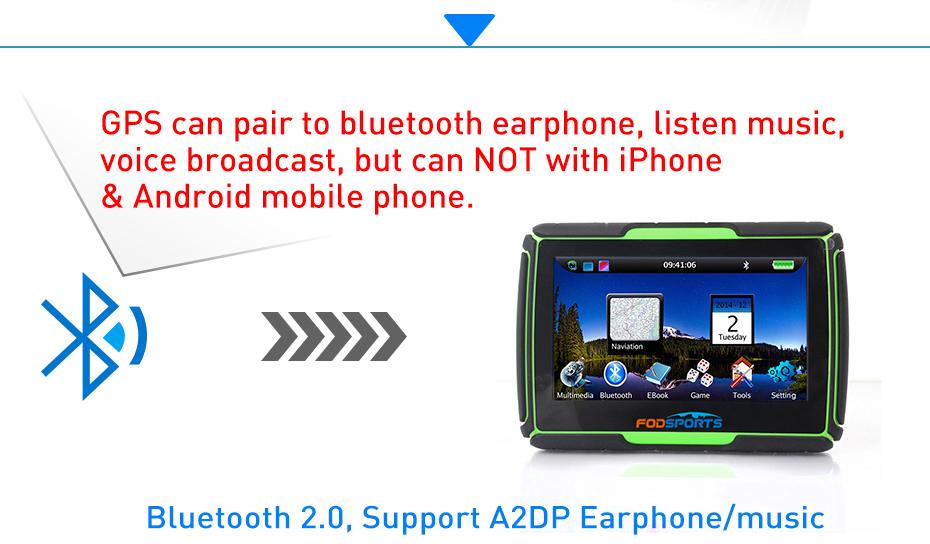 GPS Navigation pair to bluetooth device