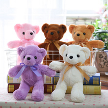 35CM Soft Teddy Bears Plush Toys Stuffed Animals Bear Dolls with Silk Ribbon Kids Toys for Birthday Gifts Party Decor Toy