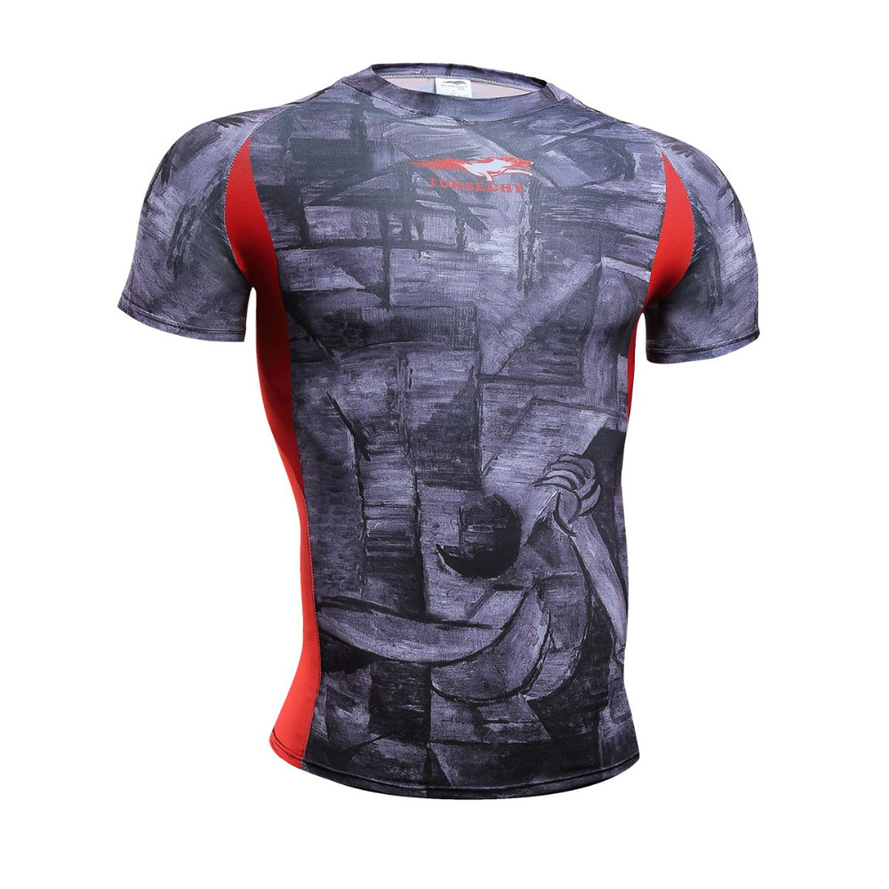 hot 2017 New T-shirt men news hot Quick Dry cycling Stretch Top Tee Shirt hot Mma Plus Size Hot Sale(China (Mainland))
