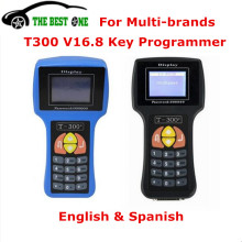 Newest Auto Key Programmer T300 V16.8 English&Spanish Transponder T-Code T-300 Decoder Car Diagnostic Scanner T 300 Key Program
