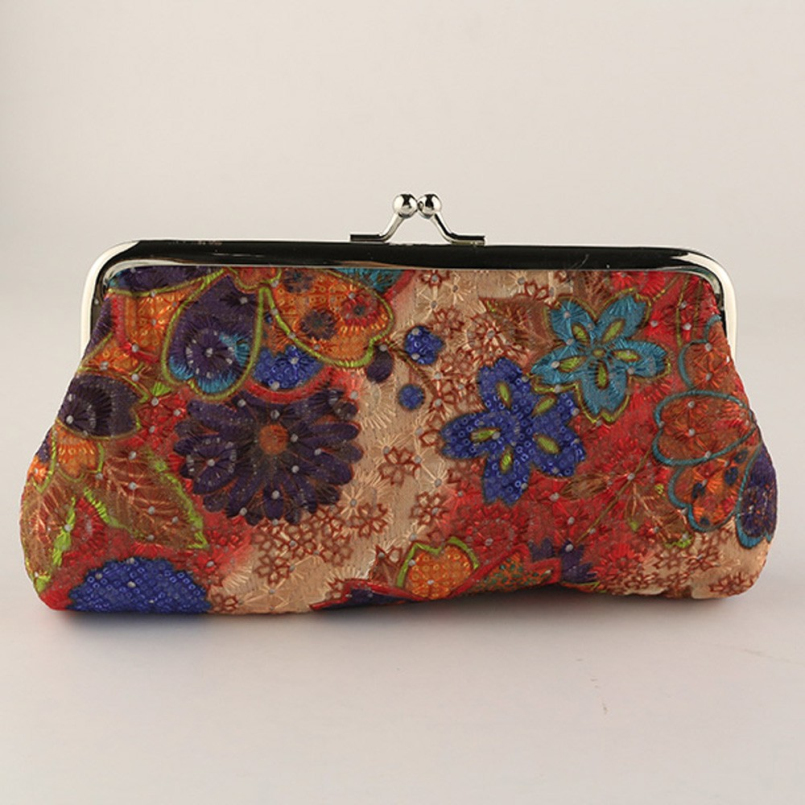 New Fashion flower printing women coin purse,lady change purse, new vintage coin wallet,Ladys money bag wallet Hasp Purse<br><br>Aliexpress