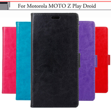 EiiMoo Phone Case For Motorola Moto Z Play Driod Case PU Wallet Flip Leather Cover For Motorola Moto Z Play Droid Capa Fundas