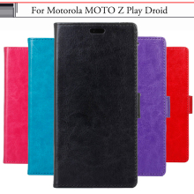 EiiMoo Phone Case For Motorola Moto Z Play Driod Case PU Wallet Flip Leather Cover For Motorola Moto Z Play Droid Capa Fundas(China)
