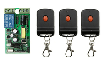 85v  110v 220v  Wide voltage AC  1 ch  RF  wireless remote control switch 1* receiver+3* transmitter