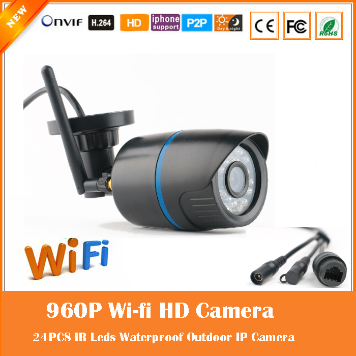Wi Fi 1.3mp 960p Bullet Ip Camera Outdoor Wireless Surveillance Motion Detect Waterproof Webcam Cmos Freeshipping Hot Sale <br>