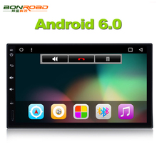 "7"" 2 Din Android 6.0 Quad Core Car Video Player GPS Navigation 1024*600  Car DVD Player Radio RDS Audio Wifi (No DVD)"