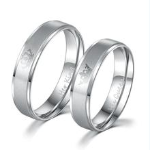 King and Queen Stainless Steel Ring Sets - His and Hers Couple Wedding Band Set Anniversary Engagement Promise Ring(China)