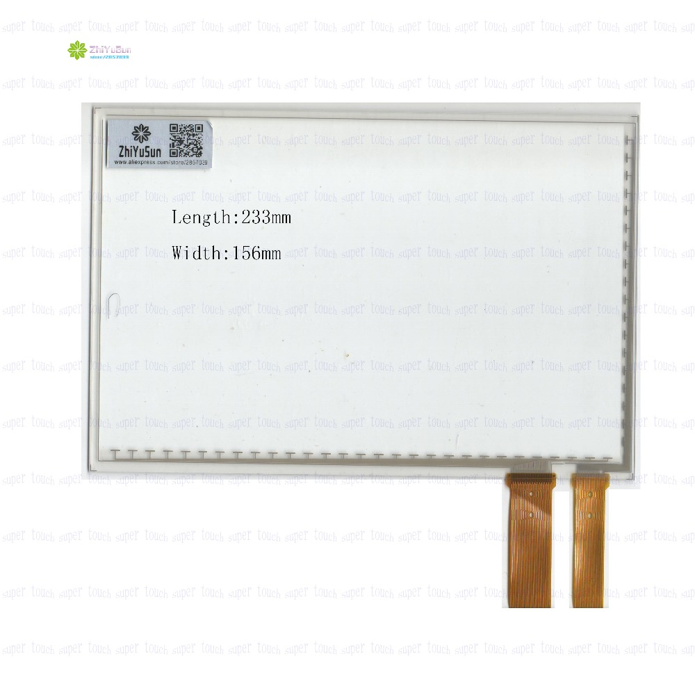 ZhiYuSun 10.1Inch 233mm*156mm   Capacitive touch screen Panel Digitizer  233*156  For CAR DVD <br>