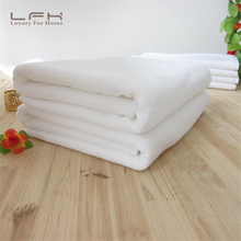 LFH Business Hotel Towel 70X140 500g Quality Cotton Pure White Soft Fabric Thick Adult Bath Rectangle Towels Beach  Home Supply