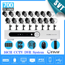 Fast Express CCTV Security Camera System 16 channel DVR 700TVL Outdoor Day Night IR Camera DIY Color Video System SK-039