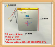 45*94*105mm 3.7V 6000mAh Tablet update Battery For Tablet SmartQ T20 AMPE A86 Dual Core P85 U35GT DUAL C(China)