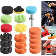 19Pcs Auto Car Vehicle 80mm Polishing Pad Polisher with M10 Drill Adapter Tool