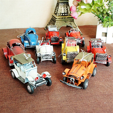 Multi-color Small Classic Car Models Vintage Vehicle Bag Hang Home Decoration for Children Desktop Furnishings for Bedroom Study