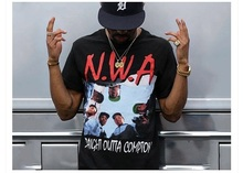 American Rap Men T-shirts Street Fashion Hip Hop Tops Summer Tee NWA Rush Out Music Commemorative Photo Print Clothing Asia Size
