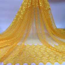 Free shipping!New Arrivals African Swiss Voile Lace.High quality new fashion african guipure lace fabric for women dress