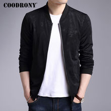 COODRONY Jacket Men 2017 New Autumn Winter Casual Stand Collar Coat Men Brand Clothing Print Rib Sleeve Outerwear Homme Pocket(China)