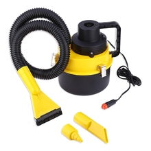 Portable Car Cleaner 12V Auto Dust Dirt Vacuum Clean Large Capacity Air Inflation Three Suckers Car Cleaning Tool