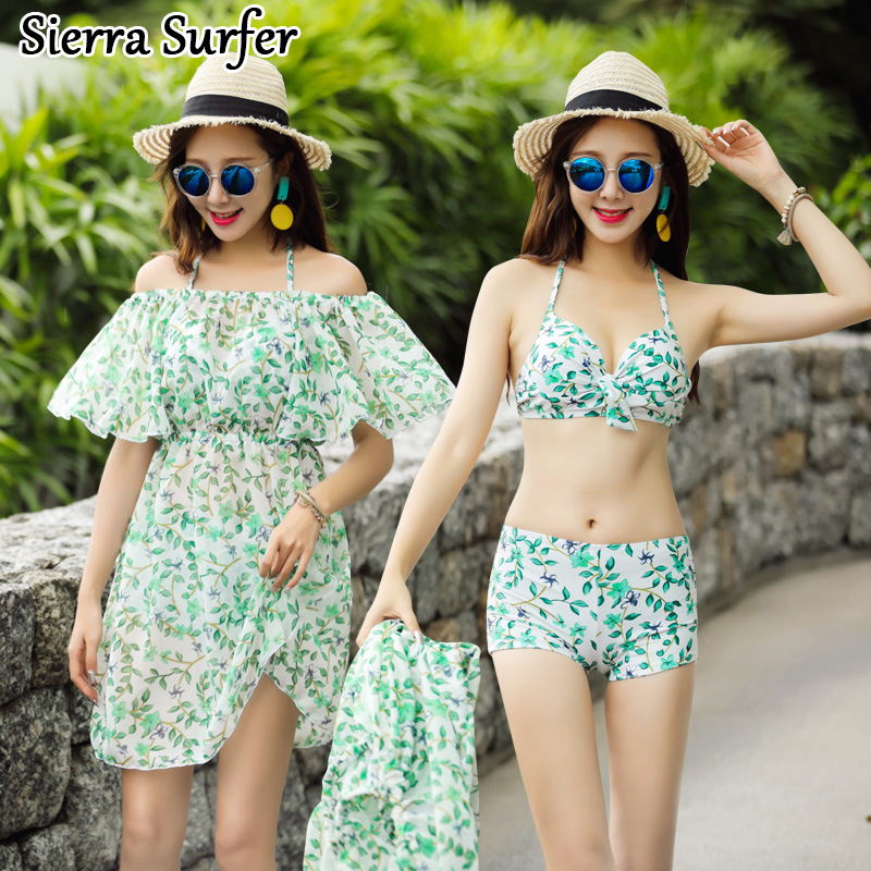 Retro Bikini Set Top Mujer Vrouwen Beach Wear Beachwear 2018 Couples Swimwear New Swimsuit Sexy Underwire Bracket Skirt Three<br>