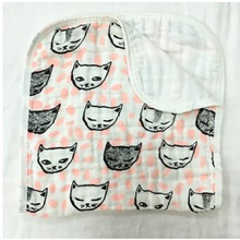 Miracle Baby Super soft print Muslin cotton gauze Three layers baby bath towel baby hand towel newborn handkerchief face towel(China)