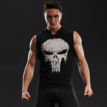 Punisher tank top Men Skull Skeleton Sleeveless Shirts Men 3D Printed T-shirts Cosplay Fitness BodyBuilding Male Crossfit Tops(China)