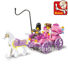 With original box Educational Toys for children Building Blocks princess coach for girl self-locking bricks Compatible with Lego
