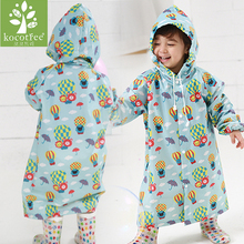 2~6 years old baby Kids Hooded Jacket children Girl boy Rain coat Poncho Raincoat Cover cartoon Balloon Print Tour Rainwear