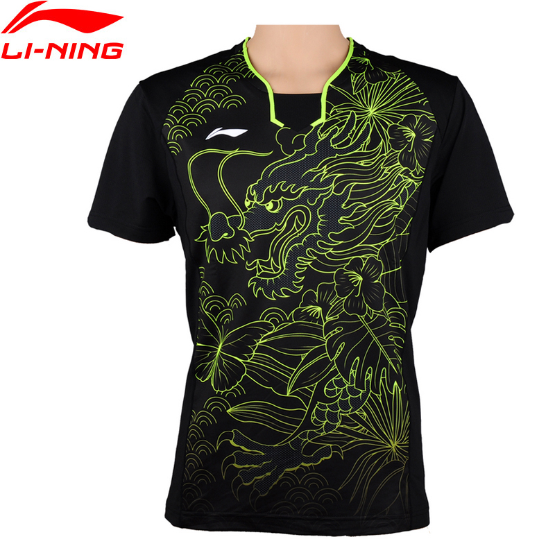 Li-Ning Men Table Tennis Sport T-Shirt Quick Dry Breathable Training Badminton Sports T-Shirts Li-Ning AAYM081 MTS2699