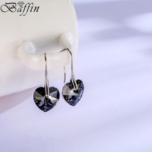 Baffin Crystal Heart Pendant Drop Earrings Crystals From SWAROVSKI For Women Jewelry 2017 Christmas Gifts