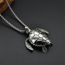 Fashion jewelry vintage silver tortoise necklace turtle pendant Cute Titanium Stainless Steel Turtles Tortoises Necklaces