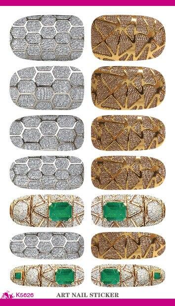K5626 New Nail Art Stickers Metallic Jewel Fantasy Water Transfer Nail Tattoo Foils Decal Minx Manicure Decor Tools Nail Wraps<br><br>Aliexpress