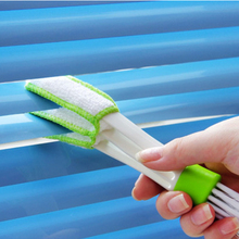 hot 1Pc Multi-purpose Double Slider  Air Conditioning Outlet Window Cleaning Brush Keyboard Clean Tools Home Supplies 2017