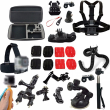 Action Camera Accessories Set Mount for Gopro hero5/4/3 Xiaomi yi 4k Sjcam sj6 Sony HDR AS15 AS20 AS200V AS30V AS100V ion air pr(China)