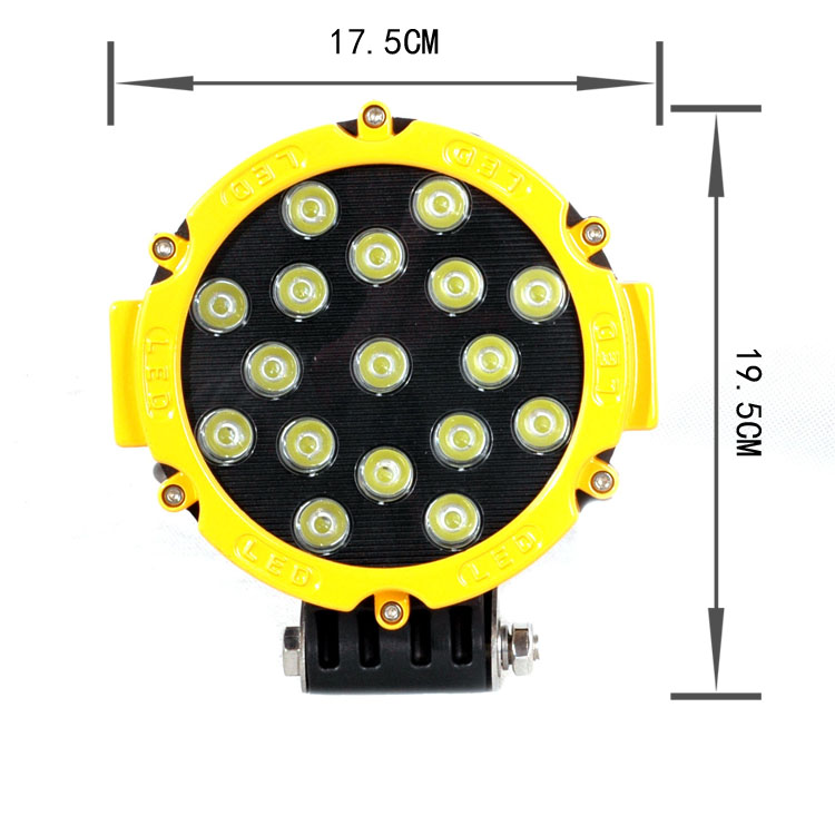 CZG751Y 7 round 51w led work light for jeep wrangler 7 inch led work light yellow color 51w led light for truck Trailler <br><br>Aliexpress