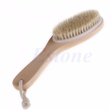 Amy Full Body Natural Bristle Dry Skin Exfoliation Brush Detox Cellulite Cleaner Nice Gifts