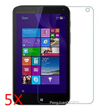 5 Pcs Clear LCD Screen Protector Cover Skin Film With Cleaning Cloth For HP Stream 7 Tablet