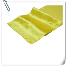 "Free Shipping Wholesale 100Pieces Yellow 12""x108"" Satin Table Runners For Wedding Party Banquet Decoration(China)"