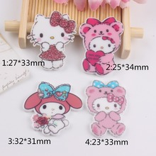 10pcs/lot flat back resin cabochons accessories kawaii planar resin cat rabbit animals(China)