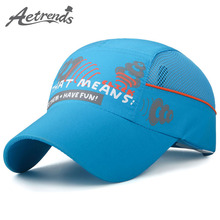 [AETRENDS] 2017 New Kids Baseball Cap Mesh Breathable Visor Hat Boy Girl Bone Snapback Quick Drying Summer Hats Z-5100